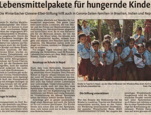 Zeitungsartikel vom 9.5.20